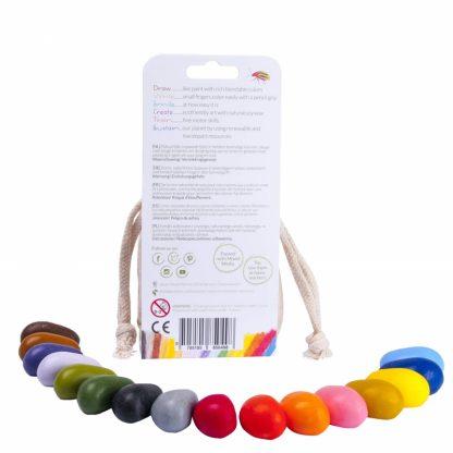 Crayon Rocks (16 stuks) in een katoenen zakje inhoud