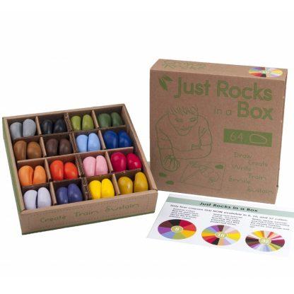 Crayon Rocks (16 kleuren - 64 krijtjes) Schooldoos