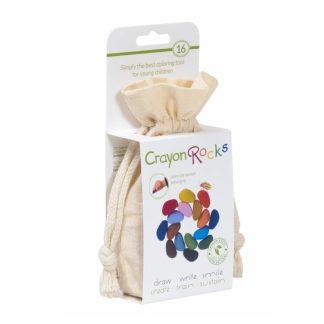 Crayon Rocks (16 stuks) in een katoenen zakje