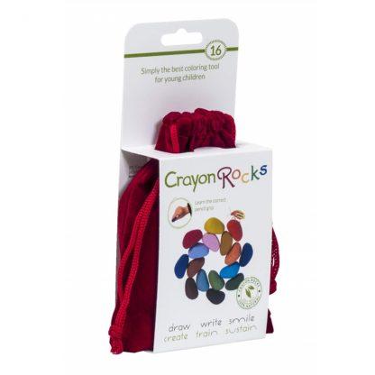 Crayon Rocks (16 stuks) in een fluwelen zakje