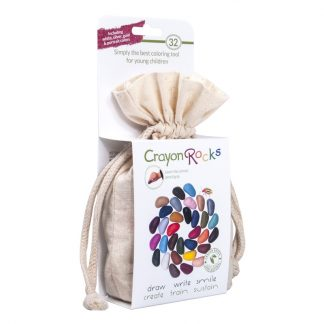 Crayon Rocks (32 stuks) in een katoenen zakje