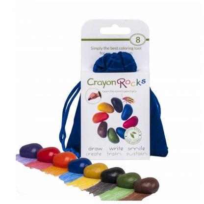 Crayon Rocks (8 stuks) in fluwelen zakje