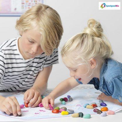 Crayon rocks voor kinderen thuis of op school