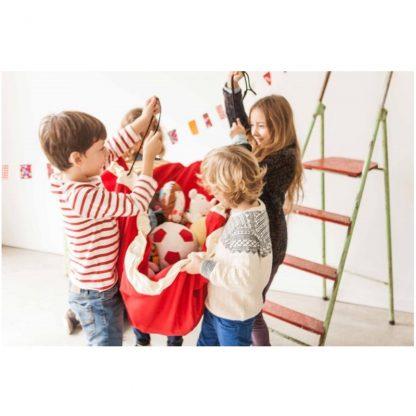 play en go speelkleed en opbergzak rood kinderen